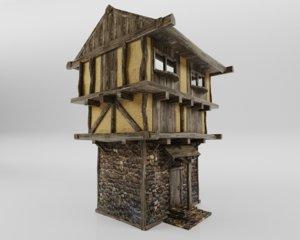 3D medieval hause model