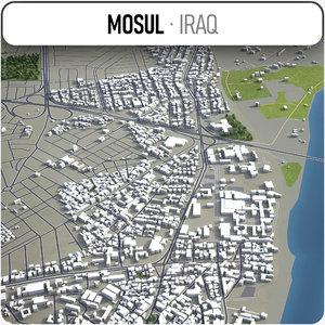 3D model mosul surrounding -