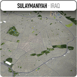 sulaymaniyah surrounding - 3D model
