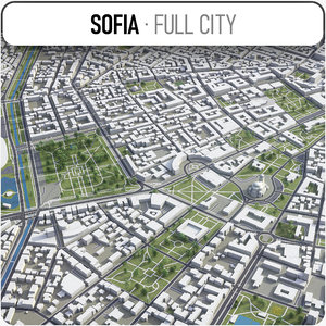 3D sofia surrounding - model
