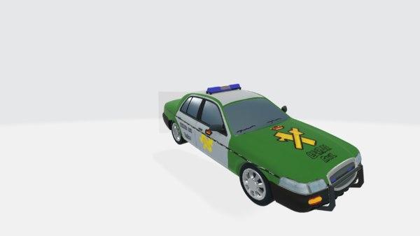 post punk police car model