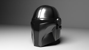 3D helmet mandalorian