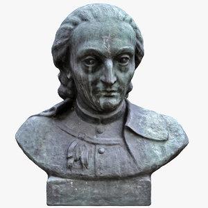bronze bust mitterpacher 3D