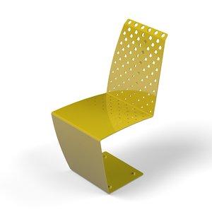 metal chair outdoor 3D model