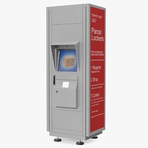 3D postomat terminal post model