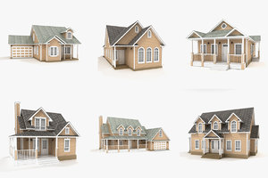 hi-poly cottages vol 15 3D model
