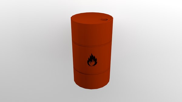 3D flammable barrel model