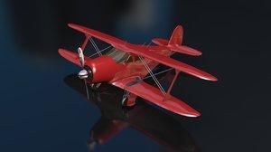 beechcraft g17s staggerwing utility 3D model