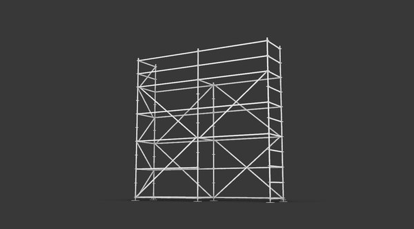 3D layher multidirectional scaffolding simple