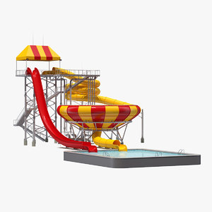 superbowl water slide 3D model