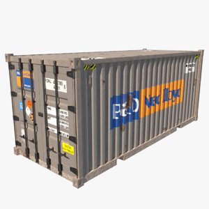 shipping container 1 teu 3D
