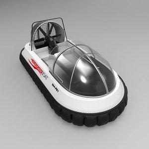 3D hovercraft modelled model