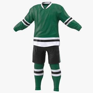 3D model hockey clothes green