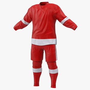 hockey clothes red model