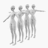 3D stylized abby base mesh