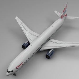 british airways boeing 777-300er 3D model