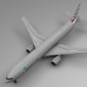 american airlines boeing 777-300er model