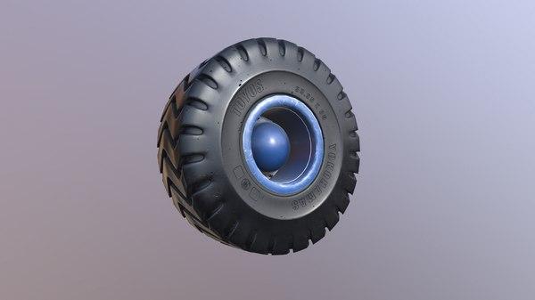 3D tractor wheel model