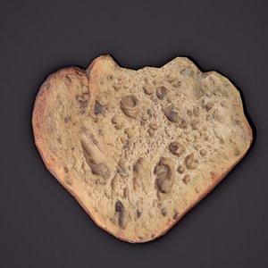 3D eaten bread