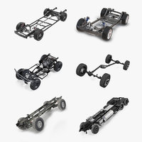 vehicle chassis 6 3D