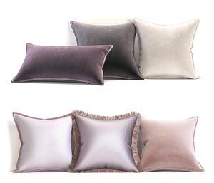 3D pillow set brabbu model