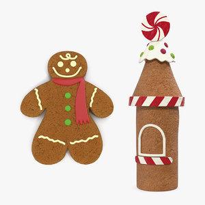 gingerbread cookie 3D