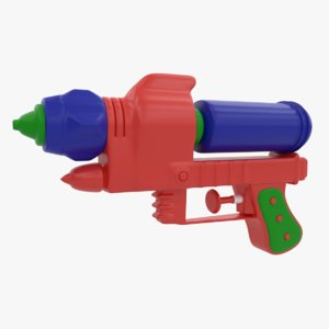 3D toy water gun