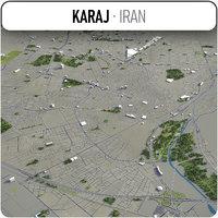 karaj surrounding - 3D model