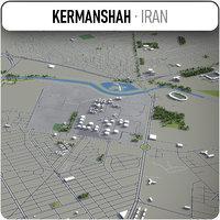 kermanshah surrounding - 3D model