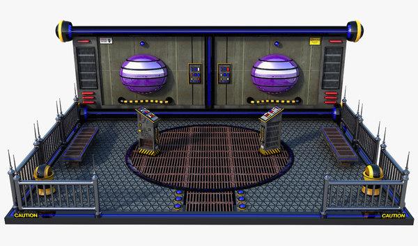 3D model sci-fi panel