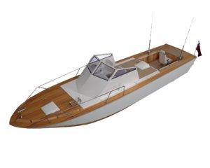 fishing sport boat 3D