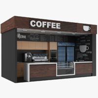 Coffee Kiosk Booth