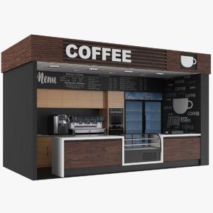 coffee kiosk model