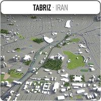 tabriz surrounding - 3D model