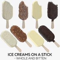 ice creams stick - 3D model