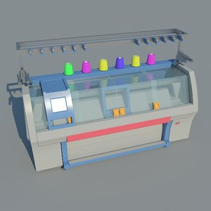 3D model industrial knitting machine