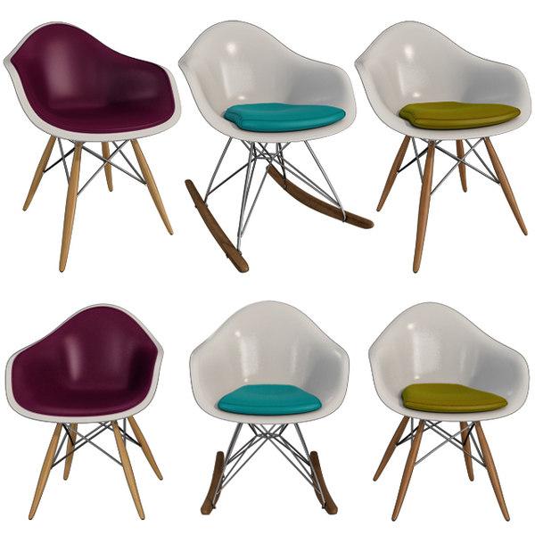 chairs eames plastic armchair 3D