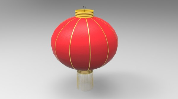 3D model chinese lantern tanglung
