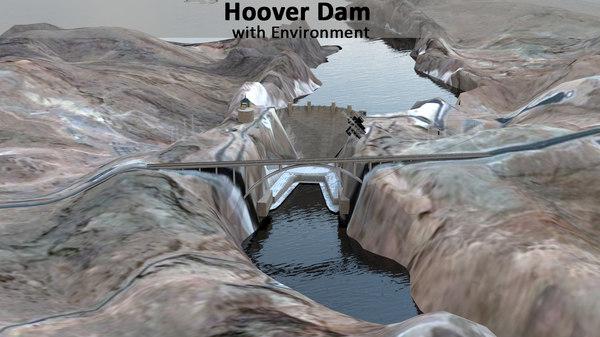 3D model hoover dam