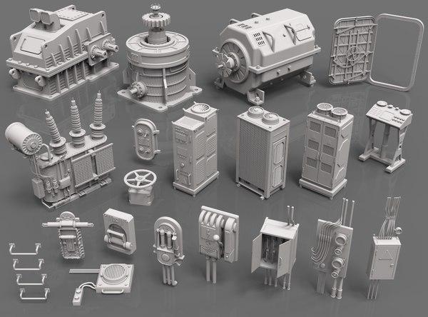 3D 20 pieces factory units