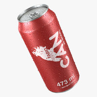 Beverage Can With Water Droplets  473ml