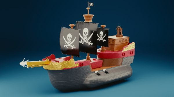 pirate toy 3D model