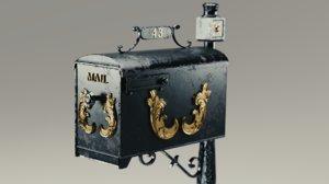 3D mailbox model