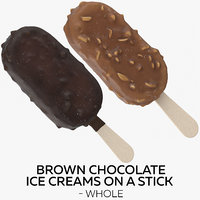 brown chocolate ice creams model