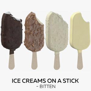 ice creams stick - 3D
