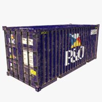 shipping container p o 3D model