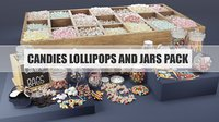 candies pack 3D model
