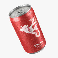 Beverage Can With Water Droplets 220ml