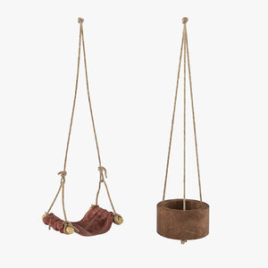 3D childrens toy swing