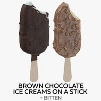 brown chocolate ice creams 3D model